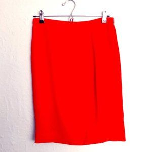 J. CREW Pencil Skirt, wrap look, deep coral, sz 2